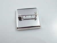 Wholesale high quality sterling silver mm brooch pin brooch settings