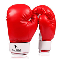 Wholesale KANGRUI top quality adult professional Boxing Gloves black red blue