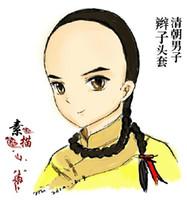 Wholesale Beauty Square Shooting Performances Wig fake braids Qing Dynasty Qing Dynasty Men Braids Wig Hair Piece Wig Retro Styling