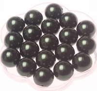 Wholesale Black mm Acrylic pearl beads for Chunky Necklace A40