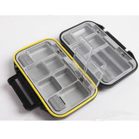 Cheap 12 Compartments Waterproof Fish Lure Hook Bait Fishing Tackle Box Case - Color Assorted 00522