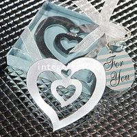 Wholesale 2013 Popular Birthday amp Mother s day heart shape bookmarks Set for Wedding gift WG063