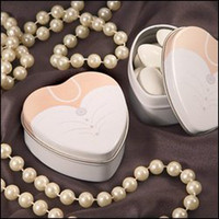 April Fool's Day   wedding favor--Dressed to the Nines - Wedding Dress Mint Tin which is used as candy packing