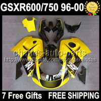7gifts For SUZUKI GSXR 600 750 96 97 98 99 00 Yellow black G...