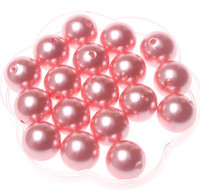 Wholesale 20mm Acrylic round pearl beads for Chunky Necklace A11