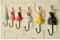 Wholesale Vintage Style Princess dress Iron Hook Wall Hanger Rural Home Decoration