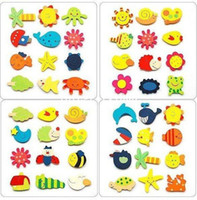 Wholesale wooden magnetic stickers wooden Cartoon fridge magnets