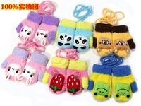 Wholesale Fashion Kids autumn Warm Mittens Baby Bear Gloves Wear New Winter Animal Infant Childen Cartoon