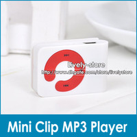 100pcs Mini Clip Mp3 player C Button clip mp3 card mp3 playe...