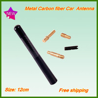 Wholesale New Black cm Carbon Fiber Short smart mini universal Auto Car Antenna Radio Car Aerial Antenna for All Car