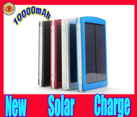 10000mAh Large capacity 1 USB and 2 USB External Solar Batte...