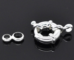 DIY Charm 11mm Fashion Copper Spring Rings Clasps,Round Claw Clasps Imitation platinum plated