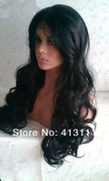 Wholesale New arrive fashion Malaysian curly lace fronts wig jet black celebrity hairstyles Indian human hair lace wigs for women