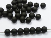 Wholesale mm Black Fluorescent Beads Round Acrylic plastic Beads Gumball Chunky Spacer Beads