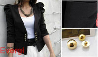western suits - 2012 Women New Niforms Tops Shrug Shouler Western Suits Blazer Short Coat Jacket