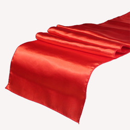 Wholesale RED Table Runner quot x108 quot Wedding Decoration Supply Party Decor