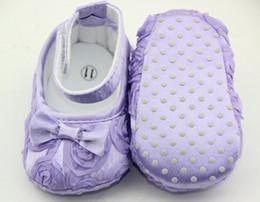Wholesale Rose Flower Baby First Walker Shoes infant baby prewalker kids Antiskid shoes girls shoes