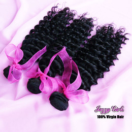 24 paquets de cheveux bouclés à vendre-Extension de cheveux vierges ondulés en malaisie Deep Wave Remy Human Weaves Weft Mix 4pcs 10-30 pouces Deep Wave Boucles d'oreilles en peluche Deal Natural Color