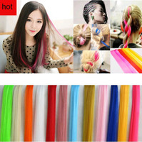 Wholesale European fashion hair pieces kinds color straight hair wigs colorful hair extention clips accessories hair