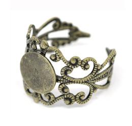 Free shipping ,antique bronze brass Finger Ring Base,8mm ring Ring Blanks, Set