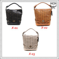 Drawstring Women MCM logo and prismatic MCM Female Smart Bucket Bags All Match Pretty Glorious Tote Bags for Vacation Convenient Portable Shoulder Bags One Strap for Sales X