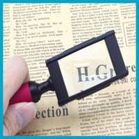Wholesale 1 piece X Handheld Magnifying Glass Magnifier Rectangle Magnifier