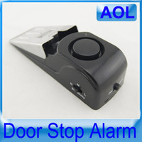 Wholesale 3 Mode Blocking Anti theft Door Alarm dB Security Home Wedge shaped Window Door Stop Alarm Block System Gate resistance