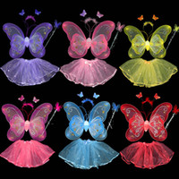 Wholesale Cute Butterfy Wings and hair band head band Photography Props Stage Props Stage Props Halloween costumes