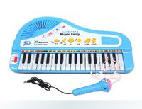 37 baby microphone toy - Crown post baby multifunctional music teaching for children of key electronic keyboard instrument microphone toy piano
