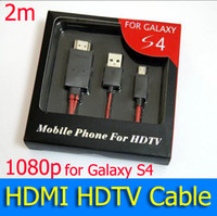 Wholesale Micro USB MHL Adapter HDMI M New Adapter Cord Cable for Samsung Galaxy S4 i9500 Supports Up to p Resolutions