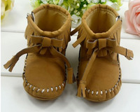 Wholesale Winter Newborn Infant Boots Khaki Year Baby Girls First Walker Shoes Beautiful Toddler Boots pair QS368