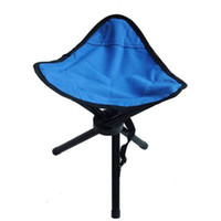 Wholesale 40pcs Stainless Steel Portable Folding Chairs for Fishing Camping Color Assorted