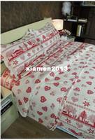 Wholesale Happy Christmas Red on white original patchwork quilt bedding set Quilt size cm Material cotton