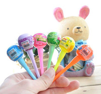 Wholesale CREATIVEBAR quot Lollipop Highlighter Watercolor Pen Graffiti Marker School Supplies Fruit Fragrance Stationery Lots1000