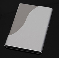 Chirstmas aluminum name card holder - 10PCS NAME CARD HOLDER ALUMINUM METAL ALLOY POCKET BUSINESS ID CREDIT CASE