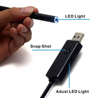 Wholesale New waterproof USB microscope x zoom usb Endoscope adjust led light mm lens dropship