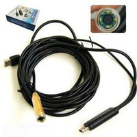 Wholesale 14 mm USB Endoscope Waterproof Wire snake Camera LED Meter freeshipping