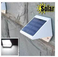 Wholesale 4 led solar fence light solar wall lamp solar lamp light outdoor light stair light steps