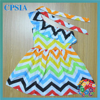 Wholesale Fashion Children fancy dress Child Chevron dress Girls party Dresses for years