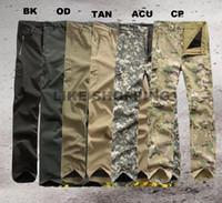 achat en gros de pantalon acu-Camping Hunting Pantalon homme Jeans Pantalon imperméable Slacks pour noir / Dark Earth / OD / ACU / CP / Grey