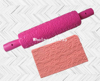Wholesale 1PCS Wilton Rolling Pin Roses pattern baking tools Fondant Cake Decorating
