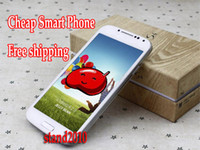 Wholesale S4 feiteng i9500 A9500 Android Smartphone inch Dual Sim Quad Band WIFI unlocked Cell Phone hdc With Flip case hotselling
