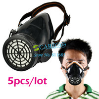 April Fool's Day   5PCS LOT Single Cartridge Gas Mask protection Filter Chemical Gas Respirator Face Mask Drop Shipping TK0856