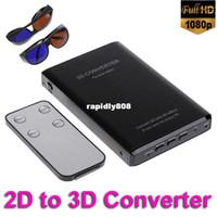 Wholesale Silver Black p HDMI D to D Converter HD Switcher Signal Video Converter Box Drop Shipping