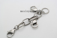 Wholesale stainless steel high polished locket extender for memory floating glass locket