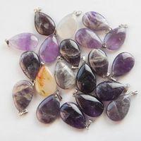 amethyst teardrop pendant - J0020176 Teardrop Natural Amethyst pendant bead