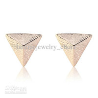 Asian & East Indian pyramid studs - Punk Style Rivet Pyramid Stud Earrings made with topshop ethnic bangles gu blue earring white swarovski elements
