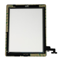Wholesale Touch Screen Glass Digitizer with Adhesive And Button for ipad ipad2 Black White