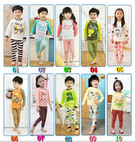 Wholesale Kids Suit Outfits Two Piece Boy And Girl Cute Cartoon Printed Pajamas Kids Underwear Child Sleepwear Fashion Leisure Wear Childrens Pajamas