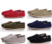 Wholesale Flat Canvas Shoes Mix color Unisex Classic Canvas Espadrilles Shoes Plain Casual Sneakers